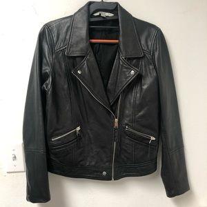 Zara leather Moto jacket Trafaluc